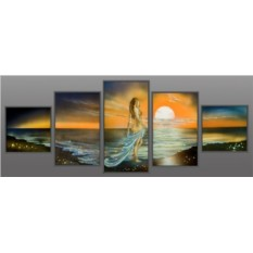 Картина Swarovski Русалка – Принцесса воды, 2186 кристаллов, 125х50