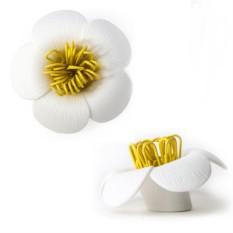 Белый магнит для скрепок Blossom