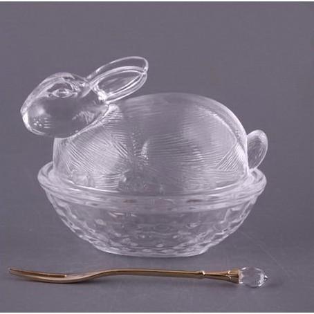 Блюдо с крышкой «Кролик» с вилочкой