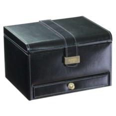 Черная шкатулка для часов и запонок LC Designs Co
