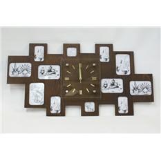 Оригинальные настенные часы-фоторамка Большая семья