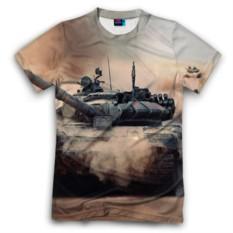 Мужская футболка 3D с полной запечаткой Танк