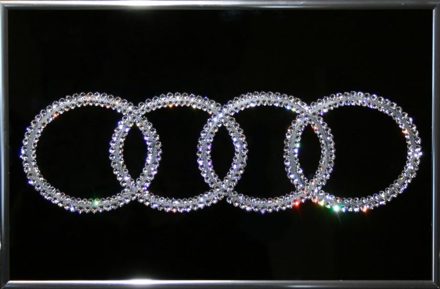 Картина с кристаллами Сваровски Audi