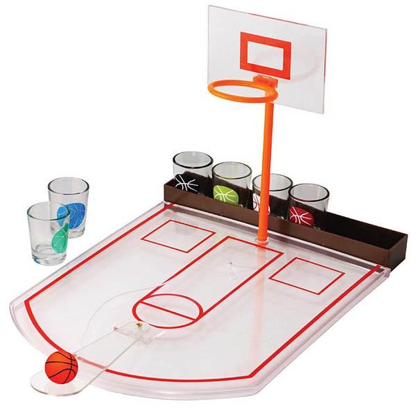 Алкогольная игра Пьяный баскетбол со стопками