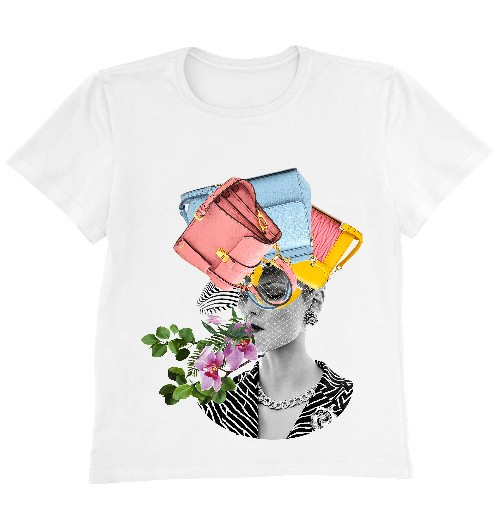 Женская футболка  BAGS ON MY MIND