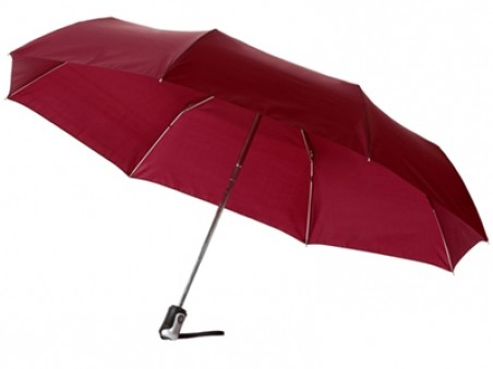 Складной автоматический зонт «Калдроуз» цвета бургунди