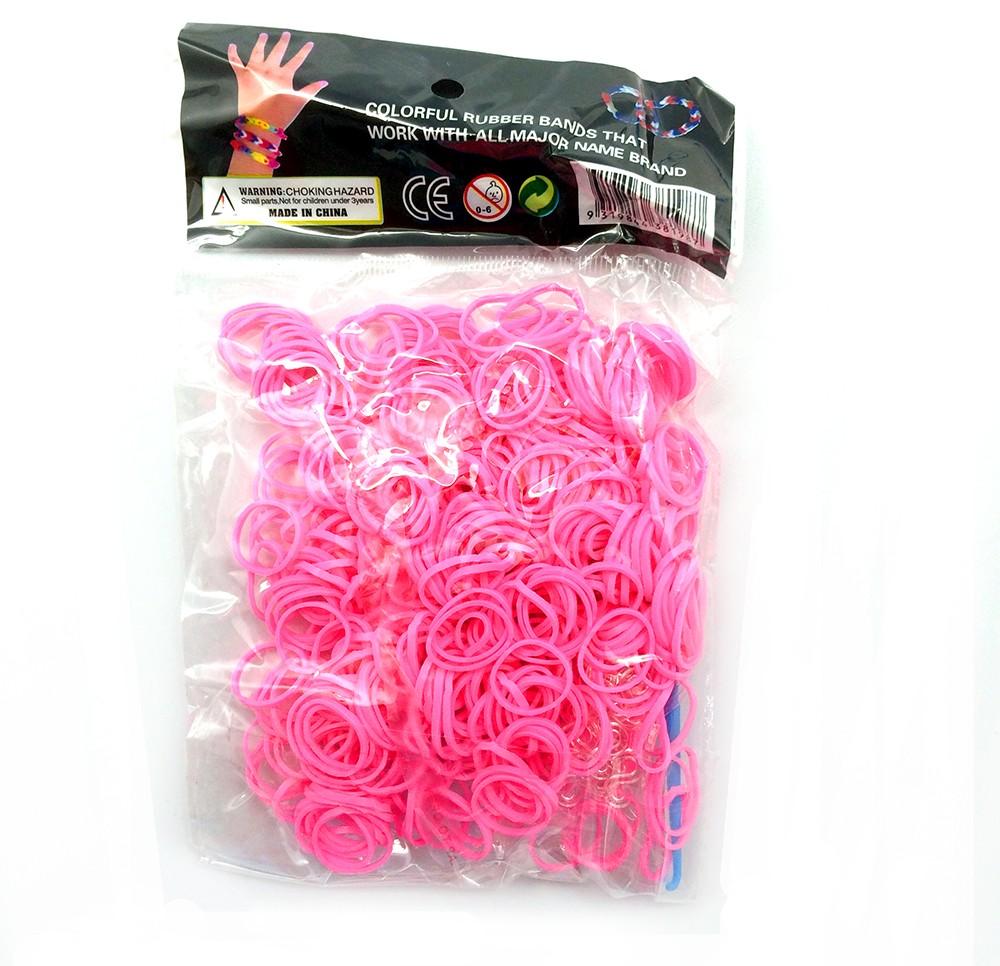 Розовый набор резиночек Loom Bands для плетения
