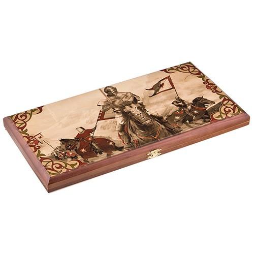 Подарочные деревянные нарды «Конные рыцари»