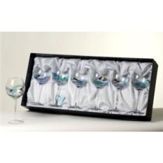 Набор бокалов для вина Синий аквамарин