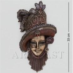 Венецианская маска Леди в шляпе (цвет: бронзовый)