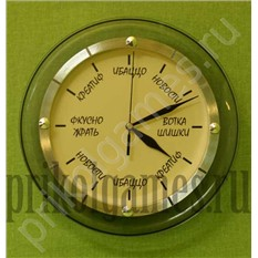 Настенные часы с прикольным циферблатом.