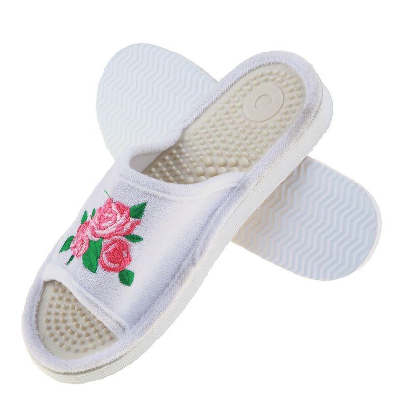 Тапочки массажные с розами