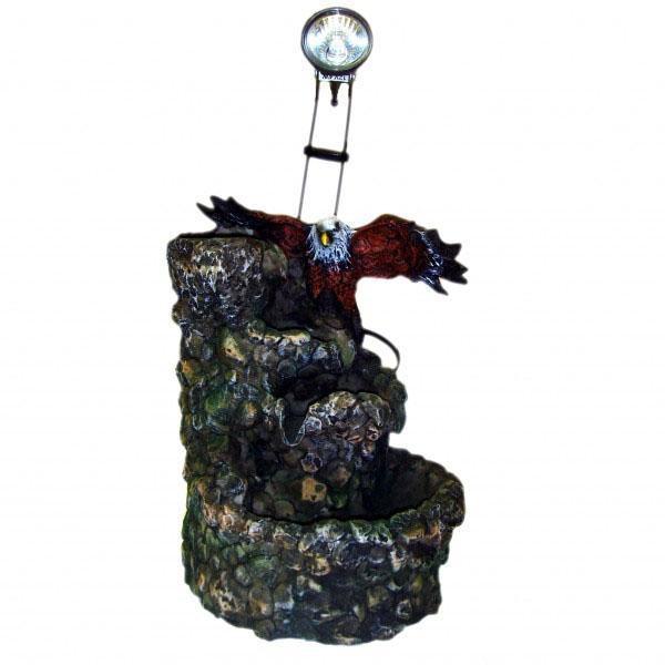 Фонтан со светильником «Горный орёл»