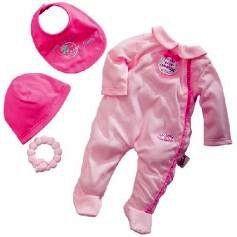 Одежда для «новорожденной» куклы Annabell