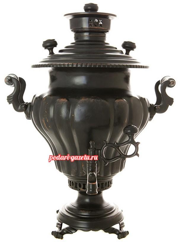 Тульский антикварный угольный самовар  на 5 литров