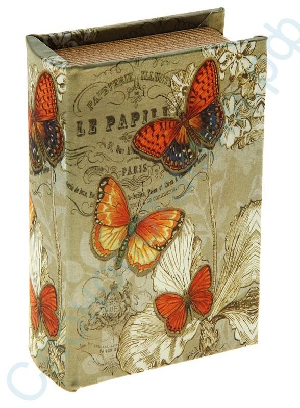 Книга сейф с ключом Бабочки росянки