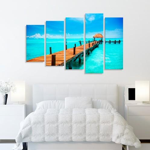 Модульная картина Карибское море