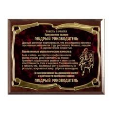 Плакетка наградная Мудрый руководитель-2