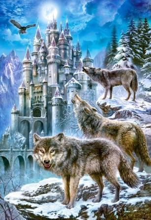 Пазл Castorland на1500 деталей Волки и замок