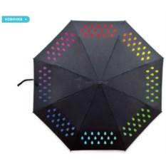 Зонт с капельками, которые меняют цвет