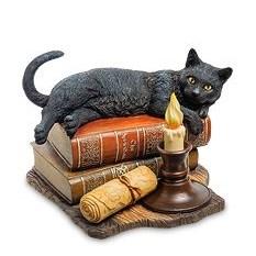 Статуэтка Кот на книгах