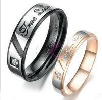 Кольца для пары, черное и золотистое