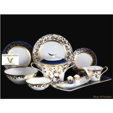 Фарфороый сервиз из 27 предметов Tosca Blueshade Gold