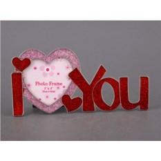Фоторамка I love you для фото размером 8 х 8 см