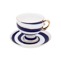 Фарфоровая чайная чашка с блюдцем Серпантин