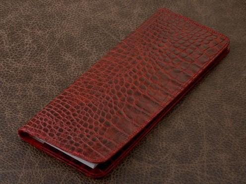 Планинг Vignette (красный, крокодил; нат. кожа)