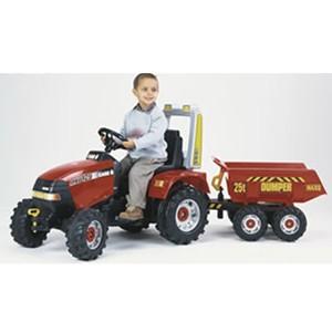 Трактор педальный с прицепом красный, Falk FAL