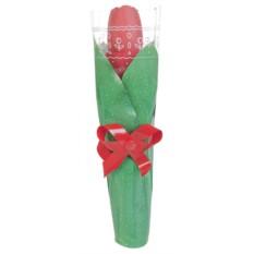 Красный зонт складной «Тюльпан»