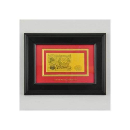 Картина с банкнотой 100 рублей