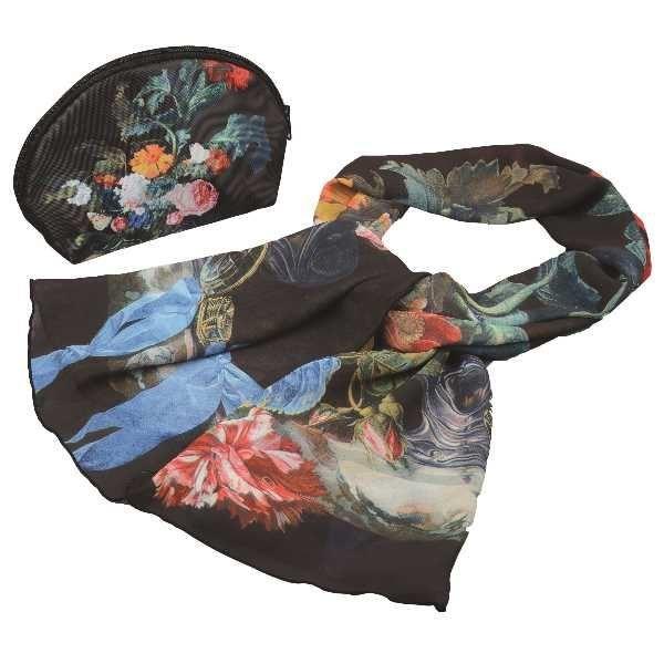 Подарочный набор Цветы (косметичка и шарф)
