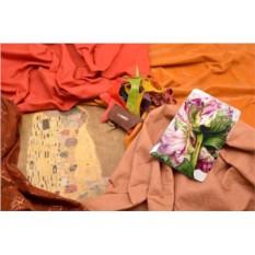 Горизонтальный кардхолдер-книжка из кожи Нежность цветка