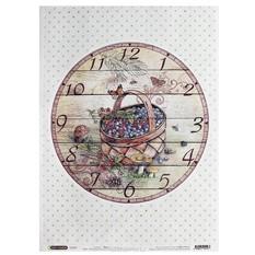 Рисовая бумага для декупажа Craft Premier Часы: Корзинка