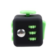 Зеленая игрушка-антистресс Fidget Cube