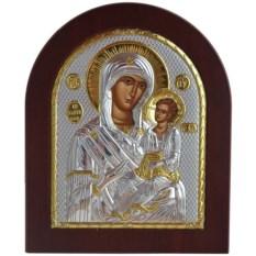 Икона в серебряном окладе Иверская Божья Матерь Вратарница