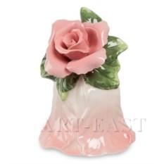 Фарфоровый колокольчик Райский цветок Pavone (розовый)