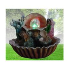 Декоративный фонтан Ракушка с шариком в чаше с кораллами