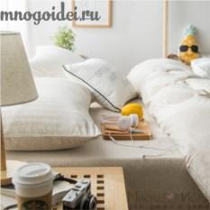 Комплект трикотажного постельного белья Золотой песок