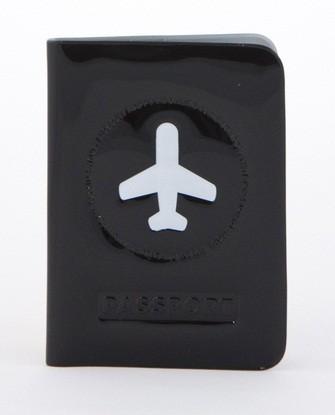 Обложка для паспорта Happy Flight-black