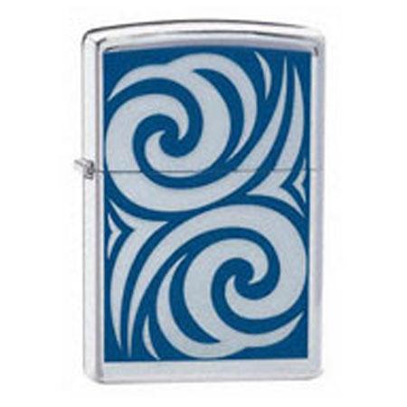 Зажигалка Zippo бензиновая «Cobalt Curl»