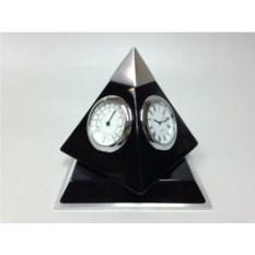 Настольный прибор: часы, термометр и гидрометр