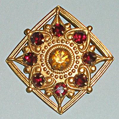 Винтажная брошь Византия