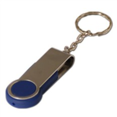 Флешка - брелок  Swing металлическая (32 Gb), темно-синяя