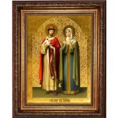 Икона Петр и Феврония Муромские благоверные чудотворцы