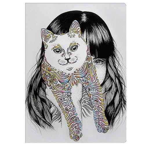 Обложка для паспорта Алиса и кот