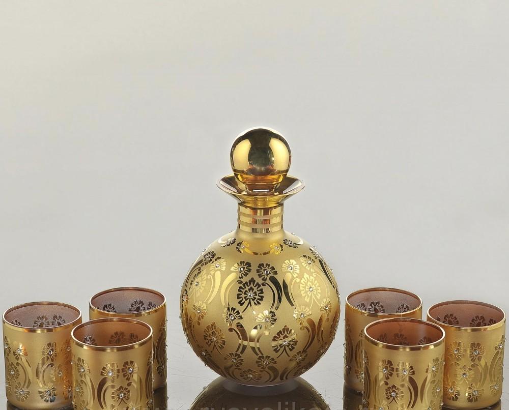 Набор для виски с золотом