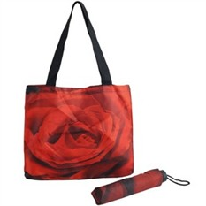 Подарочный набор Роза из зонта и сумки для шопинга